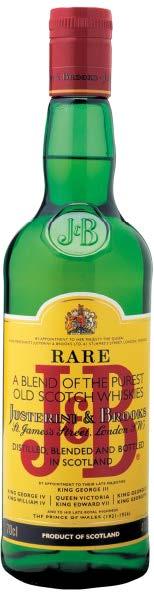 J&B RARE BLENDED