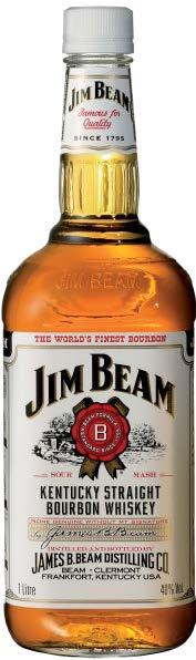 JIM BEAM BOURBON WHITE LABEL