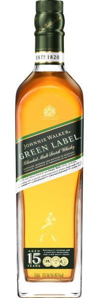 J. WALKER GREEN LABEL 15 YEARS